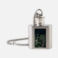 Virus particles, artwork Flask Necklace