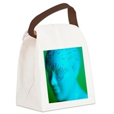 Phrenology model Canvas Lunch Bag