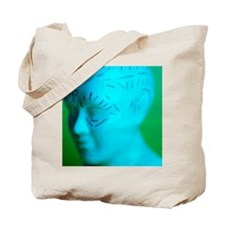 Phrenology model Tote Bag