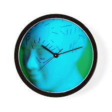 Phrenology model Wall Clock