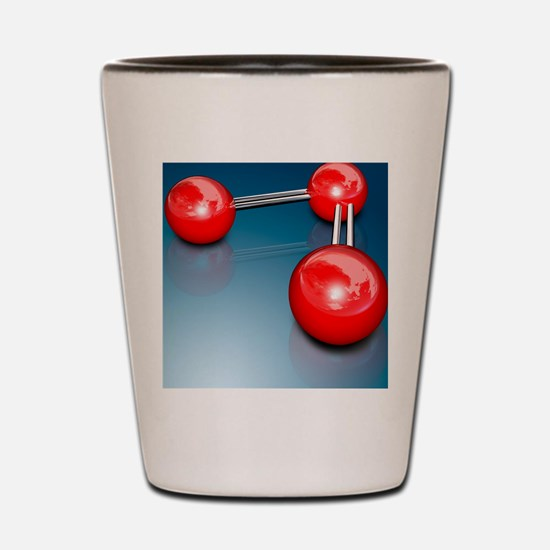 Ozone molecule Shot Glass