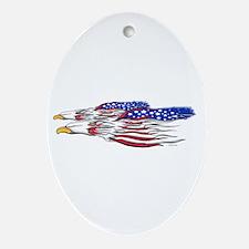 US Flag: American Eagles Oval Ornament