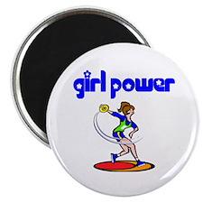 Girl Power Discus Magnet