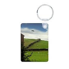 UFO sighting Aluminum Photo Keychain