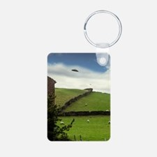 UFO sighting Aluminum Photo Keychain