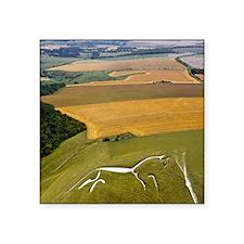 """Uffington White Horse, Oxfo Square Sticker 3"""" x 3"""""""