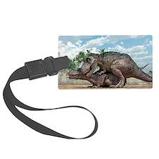 Tyrannosaurus rex dinosaurs mati Luggage Tag