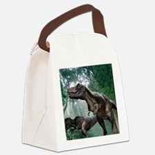 Tyrannosaurus rex dinosaurs Canvas Lunch Bag