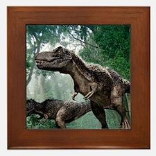 Tyrannosaurus rex dinosaurs Framed Tile