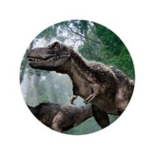 """Tyrannosaurus rex dinosaurs 3.5"""" Button"""