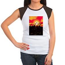 Oil pumps, artwork Women's Cap Sleeve T-Shirt