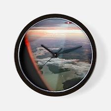UFOs scanning an aircraft Wall Clock