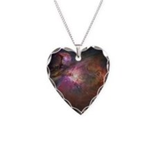 Orion nebula (M42 and M43) Necklace Heart Charm