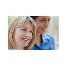 Nurses smiling Rectangle Magnet