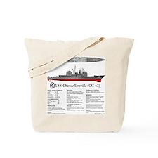 USS Chancellorsville CG-62 Tote Bag