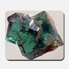 Twinned fluorite crystals Mousepad