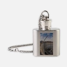 Tunnelling a sewerage pipe Flask Necklace