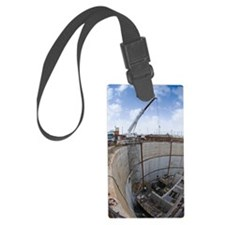 Tunnelling a sewerage pipe Luggage Tag
