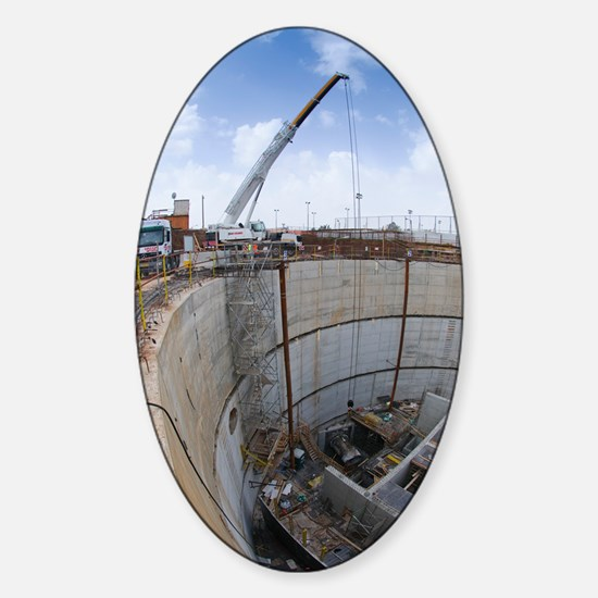 Tunnelling a sewerage pipe Sticker (Oval)