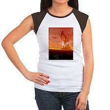 Oil pump, artwork Women's Cap Sleeve T-Shirt