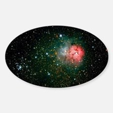 Trifid Nebula Sticker (Oval)
