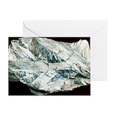Tremolite crystals Greeting Card