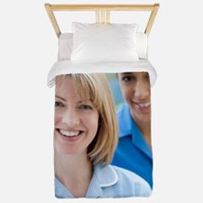 Nurses smiling Twin Duvet