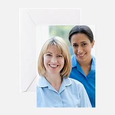 Nurses smiling Greeting Card