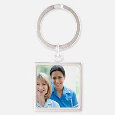 Nurses smiling Square Keychain