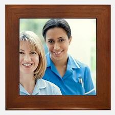 Nurses smiling Framed Tile