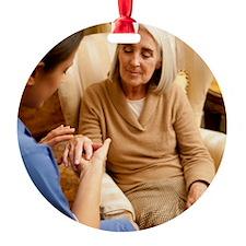 Nurse on a home visit Ornament