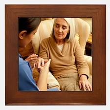 Nurse on a home visit Framed Tile