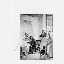 Tuberculosis diagnosis, 19th century Greeting Card