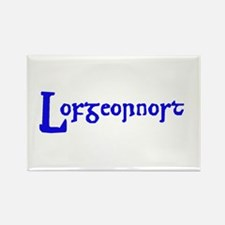 Lofgeornost (blue) Rectangle Magnet