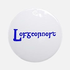 Lofgeornost (blue) Ornament (Round)