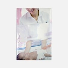 Nurse and premature baby Rectangle Magnet