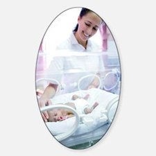 Nurse and premature baby Decal