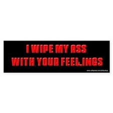 Sopranos Wipe My Ass Bumper Car Sticker