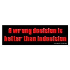 Sopranos - Wrong Decision Bumper Bumper Sticker