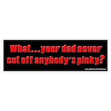 Sopranos - Cut Off Pinky Bumper Car Sticker
