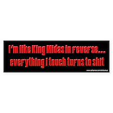 Sopranos King Midas Bumper Bumper Sticker