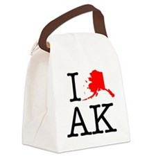 I Love AK Alaska Canvas Lunch Bag