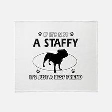 staffy designs Throw Blanket
