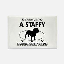 staffy designs Rectangle Magnet