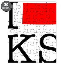 I Love KS Kansas Puzzle