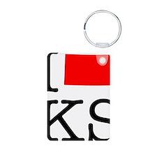 I Love KS Kansas Keychains