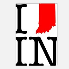 I Love IN Indiana Postcards (Package of 8)