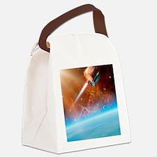 TIROS weather satellite, artwork Canvas Lunch Bag
