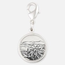 Third Barents Arctic Expeditio Silver Round Charm