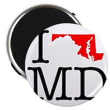 I Love MD Maryland Magnet